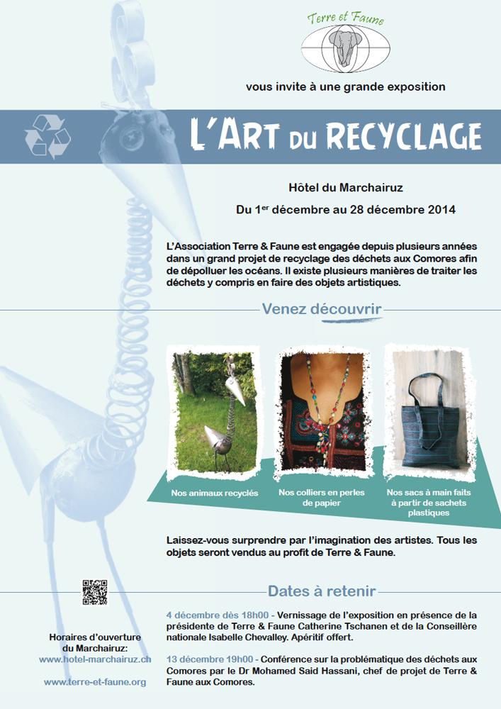 Affiche Art du recyclage - 2014